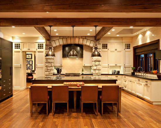 183 Kitchen Design Photos with Beige Cabinets, Granite Countertops and