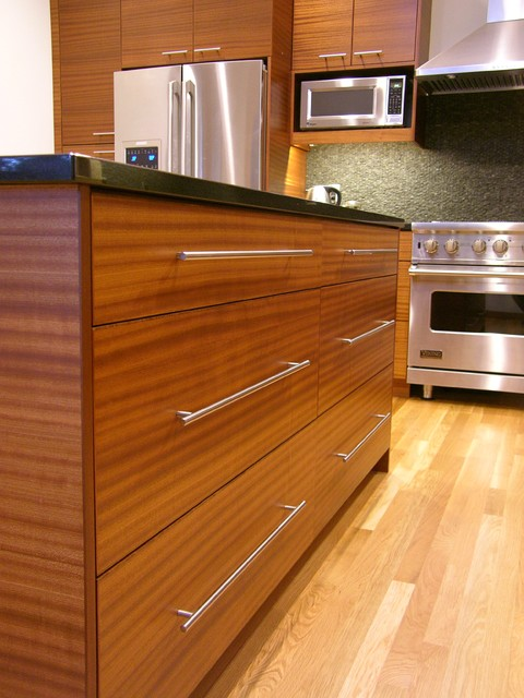modern sapele kitchen contemporary kitchen portland