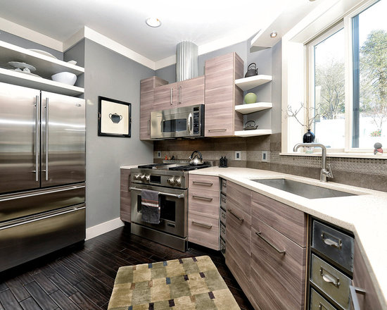 Brown Grey Cabinets Home Design Ideas, Pictures, Remodel and Decor