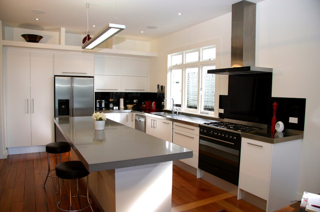 Simple Modern Kitchen modern simple style kitchen, pt chevalier, auckland 2013 - modern