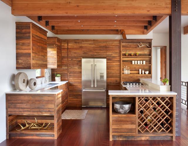 Rustikal modern küche  Modern Ski Chalet - Rustikal - Küche - Denver - von Stillwater ...