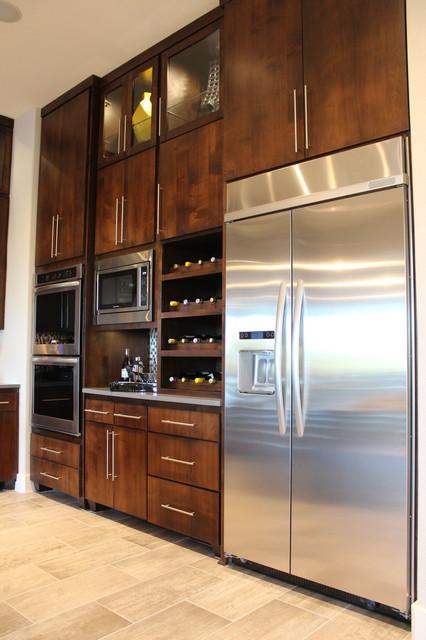 Modern Slab Flat Panel Cabinet Door Kitchen by Burrows