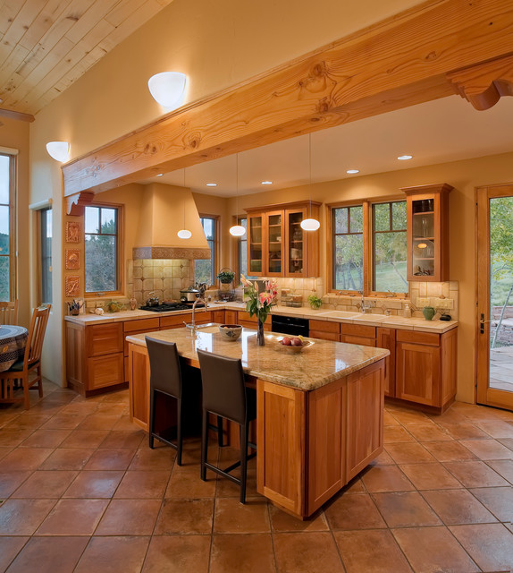 Modern Southwest Style Home - Southwestern - Kitchen - Albuquerque ...