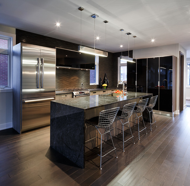 Modern town home kitchen by astro ottawa contemporary for Modern house design ottawa