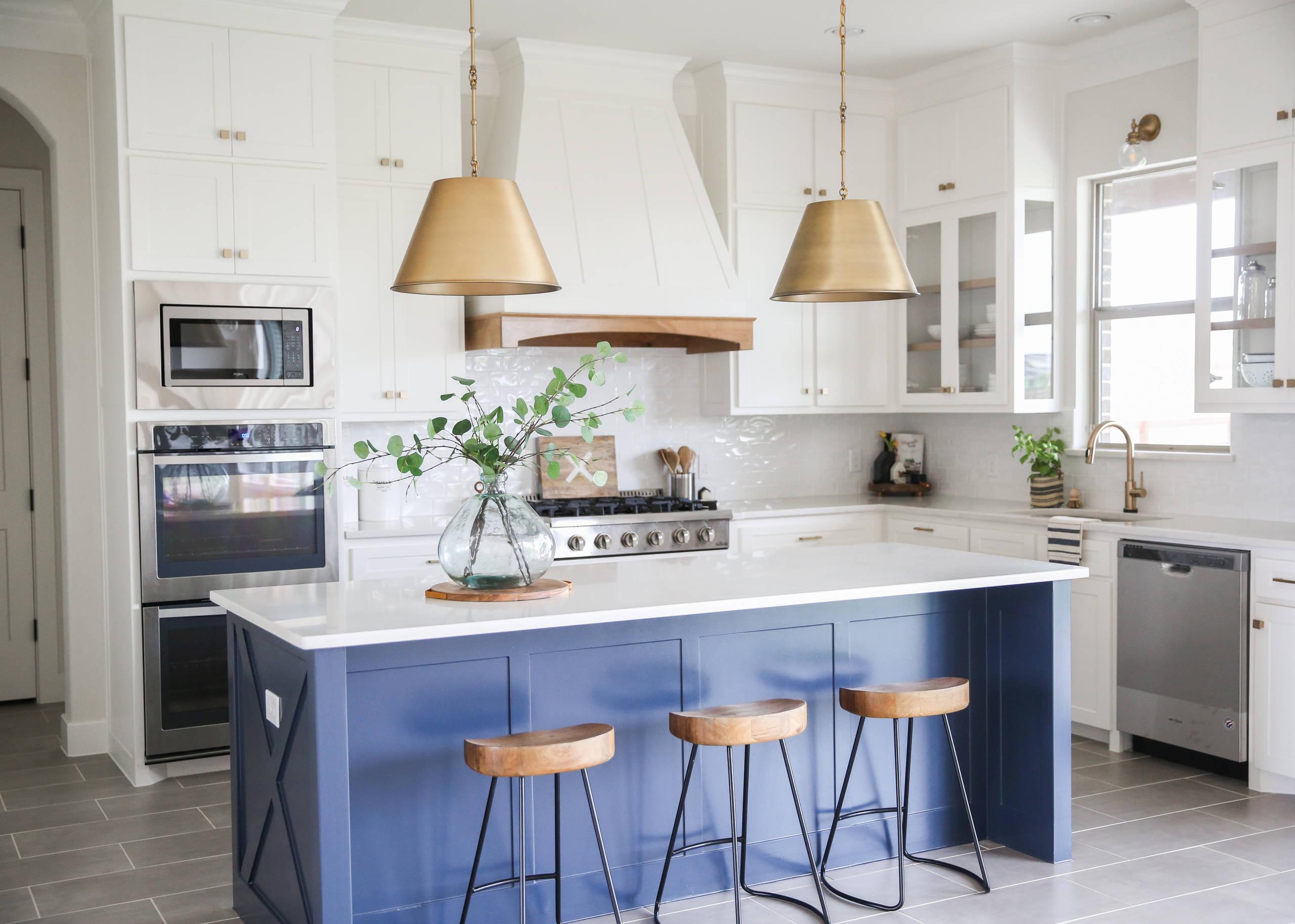 Blue And Gold Kitchen Ideas Photos Houzz