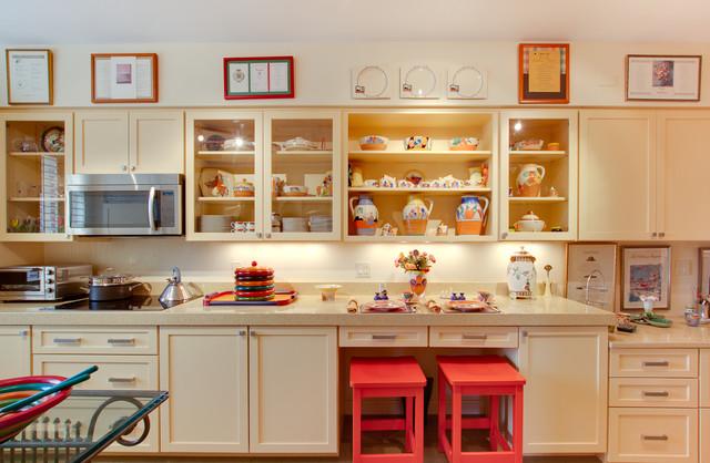 Modern Transitional Buttermilk Yellow Kitchen - Eclectic - Kitchen ...