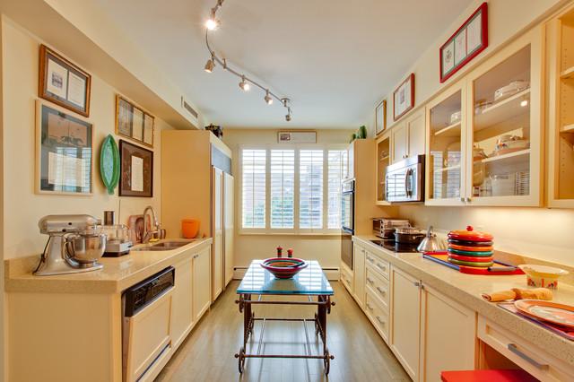 Modern Transitional Buttermilk Yellow Kitchen Eclectic Kitchen Dc Metro