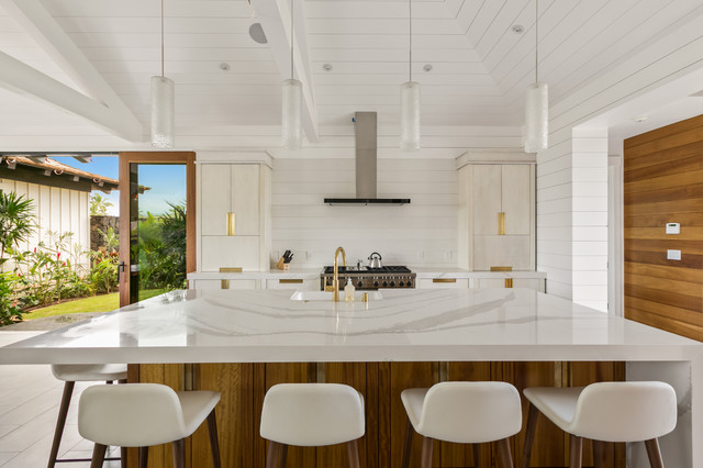 Modern Tropical Kitchen beach-style-kitchen & Modern Tropical Kitchen - Beach Style - Kitchen - Hawaii - by Pu ...