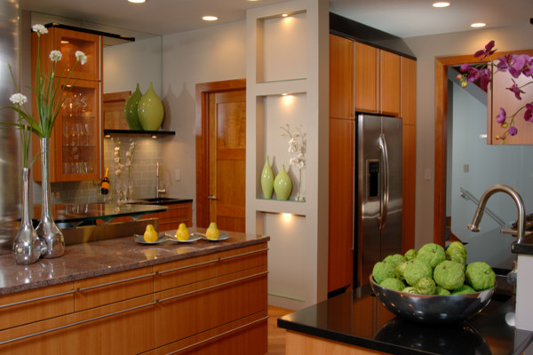 Modern Urban Kitchen Contemporary Kitchen Other Metro By Kristin Okeley Kitchens By