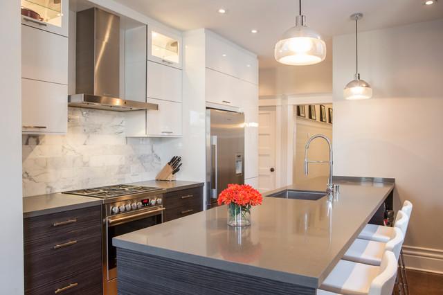 Modern Victorian Contemporary Kitchen Toronto By Biglarkinyan Design Planning Inc