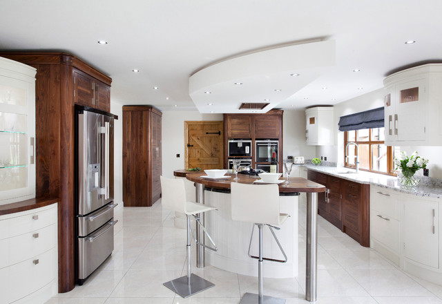 Modern Walnut Horizon Kitchen Modern Kitchen Northern Ireland By The Design Yard