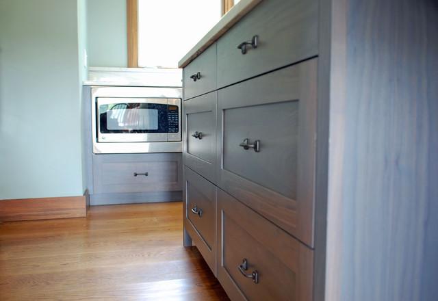 Modern Walnut Kitchen traditional-kitchen