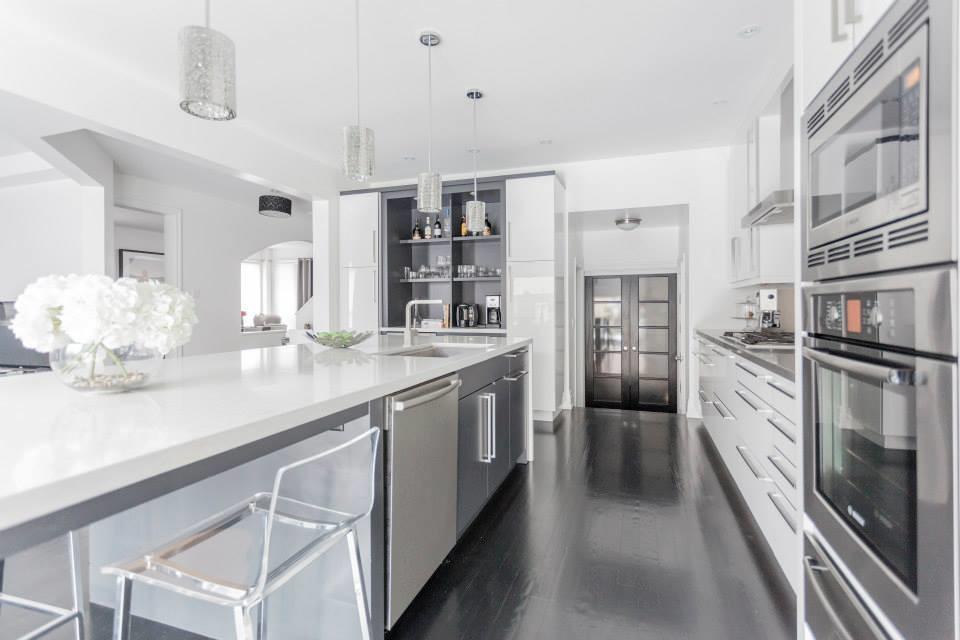 Modern White Grey Kitchen Design Oakville Toronto By Land Houzz
