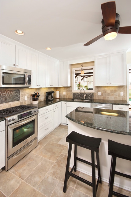 Modern White Cabinets Contemporary Kitchen Cleveland By Artistic Renovations Of Ohio Llc