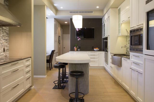 Modern White Kitchen transitional-kitchen