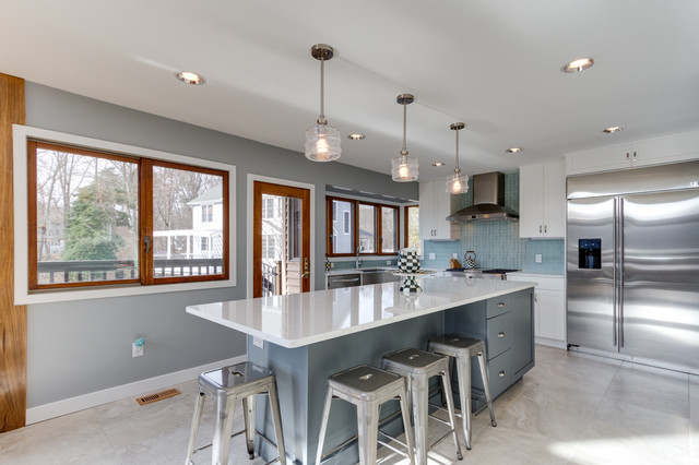 Gorgeous Kitchen Renovation In Potomac Maryland: Modern White Kitchen Remodel Arnold, MD