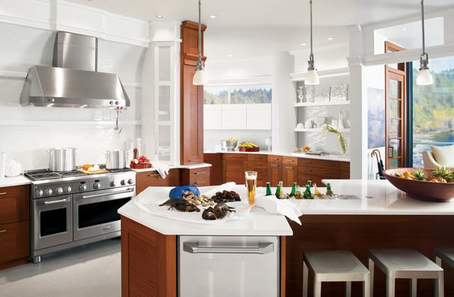 Modern White Kitchen contemporary-kitchen