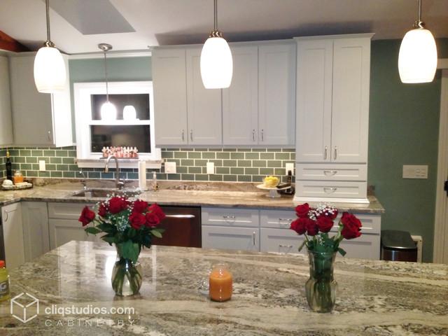 Modern white kitchen update transitional kitchen for Modern kitchen updates