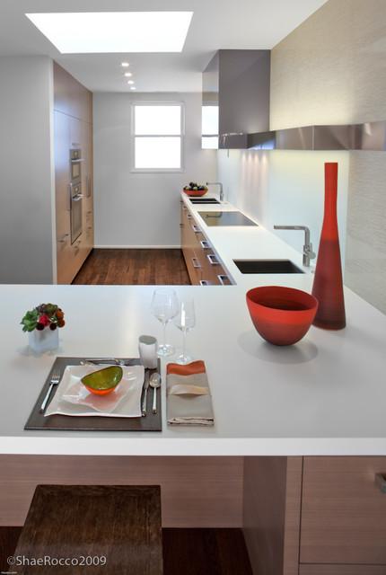 Modern White Kitchen w/Warm Woods modern-kitchen