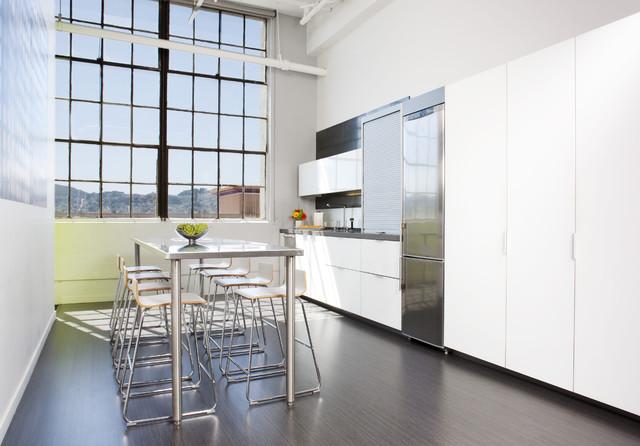 Modern White Loft Kitchen modern-kitchen