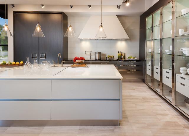 Modern white sea glass kitchen countertops contemporary for White glass kitchen