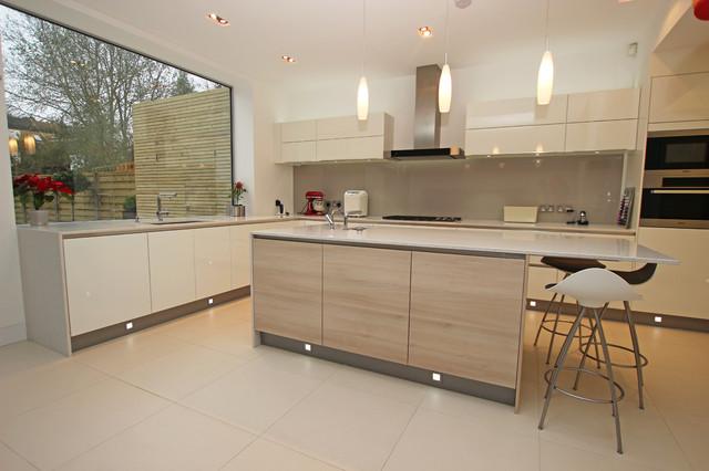 Modern Wood Kitchen Island Modern Kitchen London By