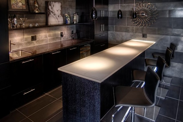 Modernist White Rock Residence contemporary-kitchen