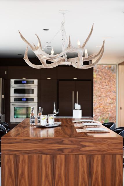 Modular home in the laurentians ime habitat contemporain cuisine mont - Mobil home contemporain ...