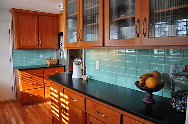 "Modwalls Lush 3""x 6"" Surf Glass Subway Tile modern-kitchen"