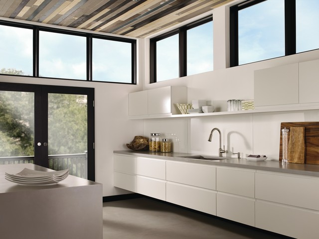 moen indi spacious modern galley kitchen  contemporary  kitchen,Modern Galley Kitchen,Kitchen ideas
