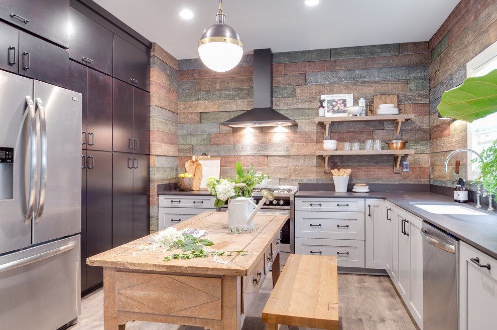 Mohawk Flooring Gallery - Transitional - Kitchen - Orange ...