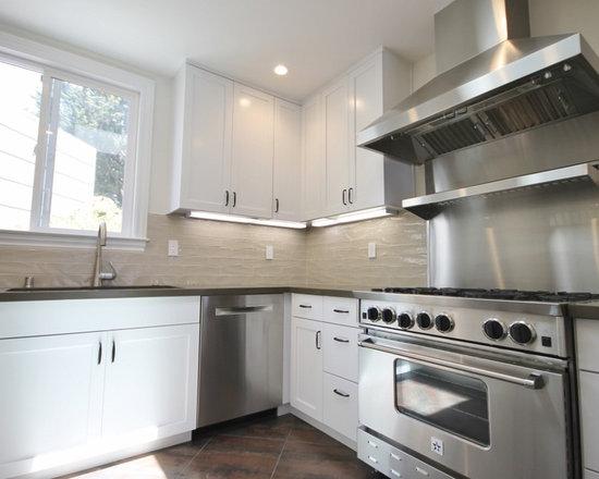 862 Kitchen Design Photos with Stainless Steel Appliances, Beige