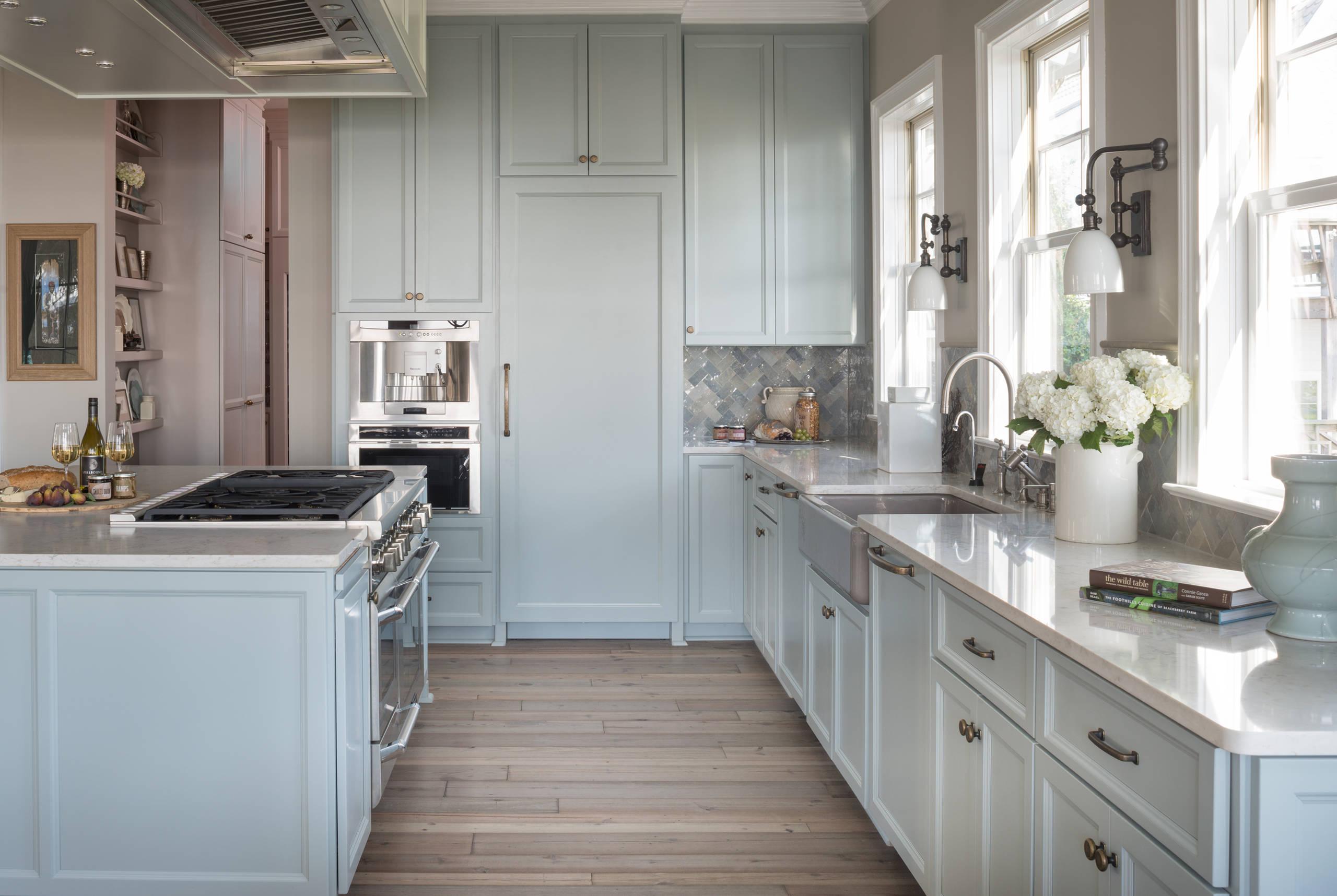 Light Blue Kitchen Cabinets Houzz