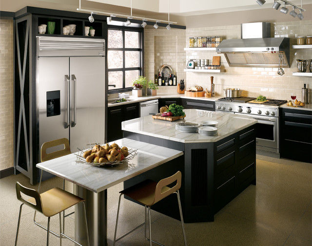 Monogram design center new york city contemporary for Professional kitchen