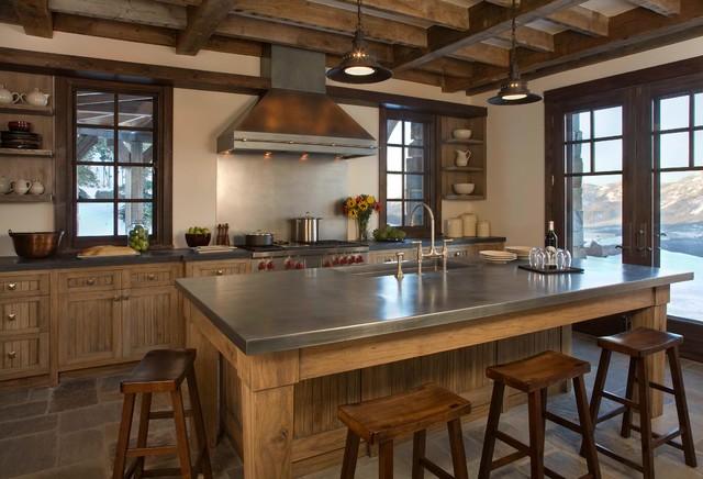 montana ski house rustic kitchen new york by brooks and falotico associates inc. Black Bedroom Furniture Sets. Home Design Ideas