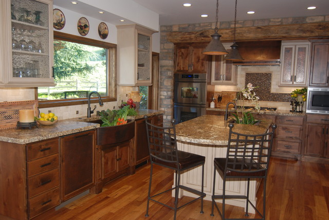 Montana style meets sf bay area ranch traditional for Ranch style kitchen designs