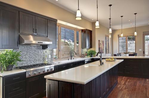 Inspiration help - Espresso Cabinets with dark wood floors