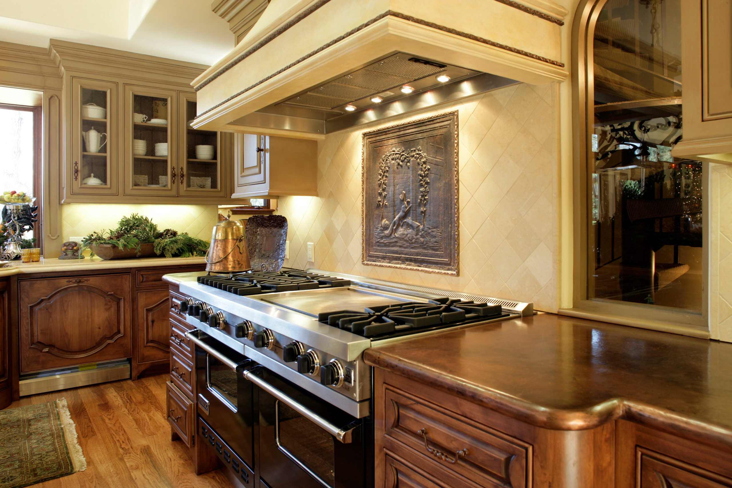 75 Beautiful Kitchen With Copper Countertops And Beige Backsplash Pictures Ideas November 2020 Houzz