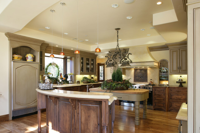 Monte Sereno Tuscan Custom Home rustic kitchen