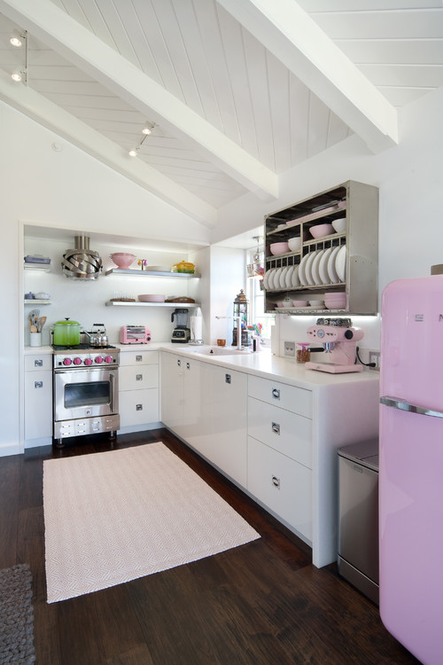 cabinets for a small kitchen a touch of pink for every room town amp country living 8035