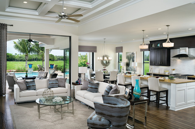 Montecito model home interior decoration 1269 for Living with models