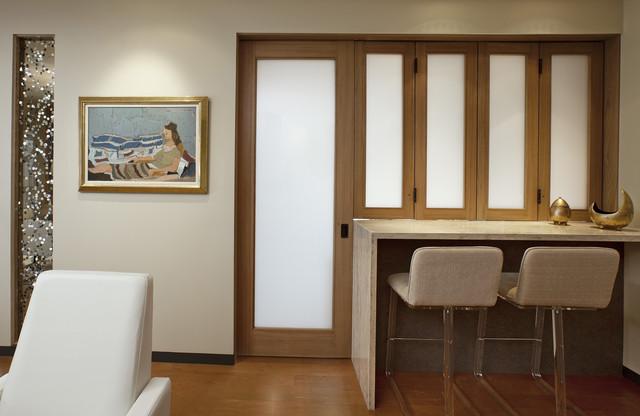 Montecito Shores Remodel Bifold Door Closed - Contemporary - Kitchen - santa barbara - by Allen ...