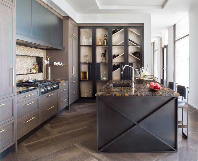 Moody Blue - Transitional - Kitchen - Denver - by Exquisite Kitchen ...