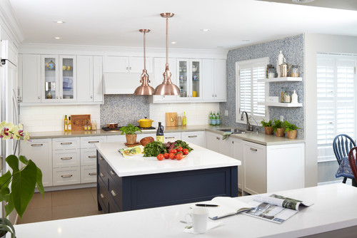 white kitchen cabinets navy island remodelaholic color spotlight benjamin hale navy 28856