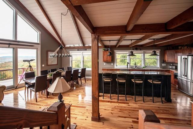 Moose Ridge Lodge Post And Beam Rustic Kitchen