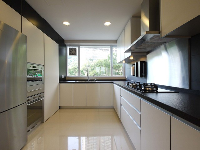 Mordern indian apartment contemporary kitchen hong kong by ample design Kitchen design companies hong kong