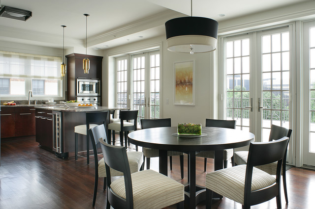 Morristown nj penthouse contemporary kitchen new for Atrium white kitchen cabinets