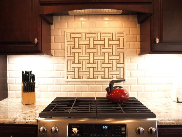 Mosaic Tile Basket Weave With Beveled
