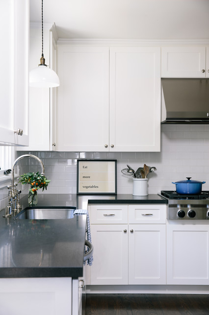 Quartz Countertop Height : Kitchen - Traditional - Kitchen - san francisco - by Amanda Teal ...
