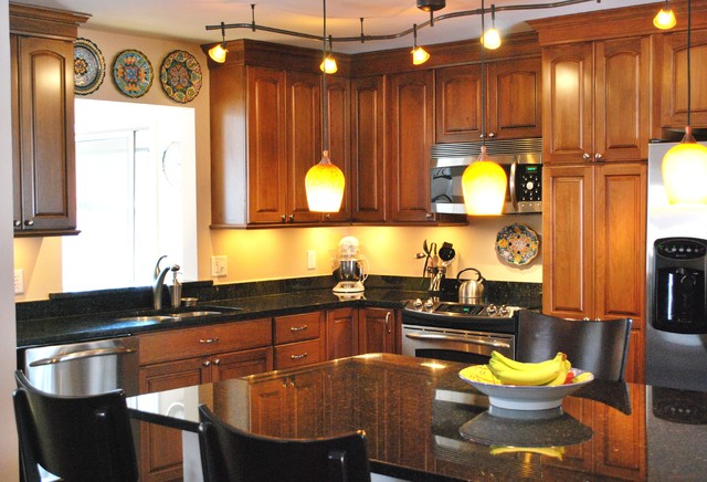 Mount vernon kitchen update contemporary kitchen dc for Updating track lighting